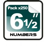"6.5"" Race Numbers - 250 pack"
